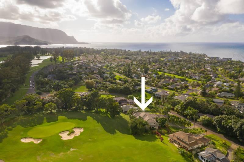 kauai home on gold course