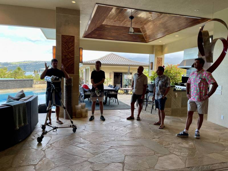 filming the fpv video in 280 poipu dr