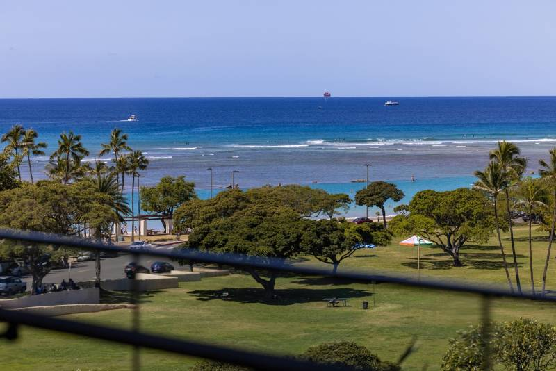 ocean view from oahu condo