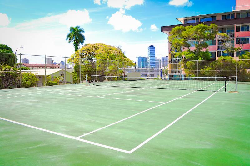 community tennis court