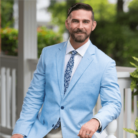 Photos of Joe Hanley, veteran, real estate agent, and author of this article