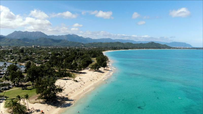 aerial view of kailua oahu