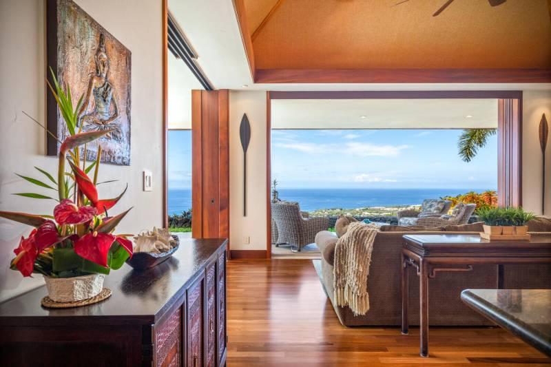 wide ocean views from kona big island estate