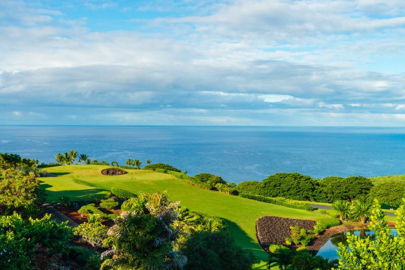 oceanfront golf course on the big island hawaii