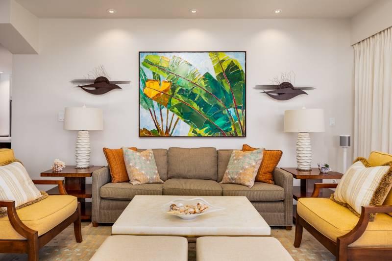 contemporary interior in big island condo