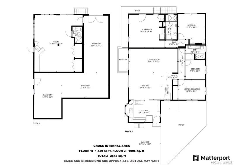 floorplan of oahu home for sale