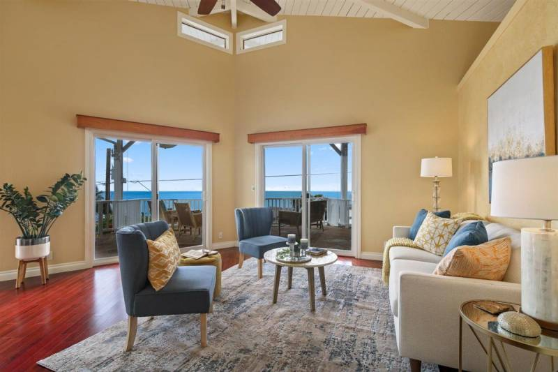 high ceilings and ocean views