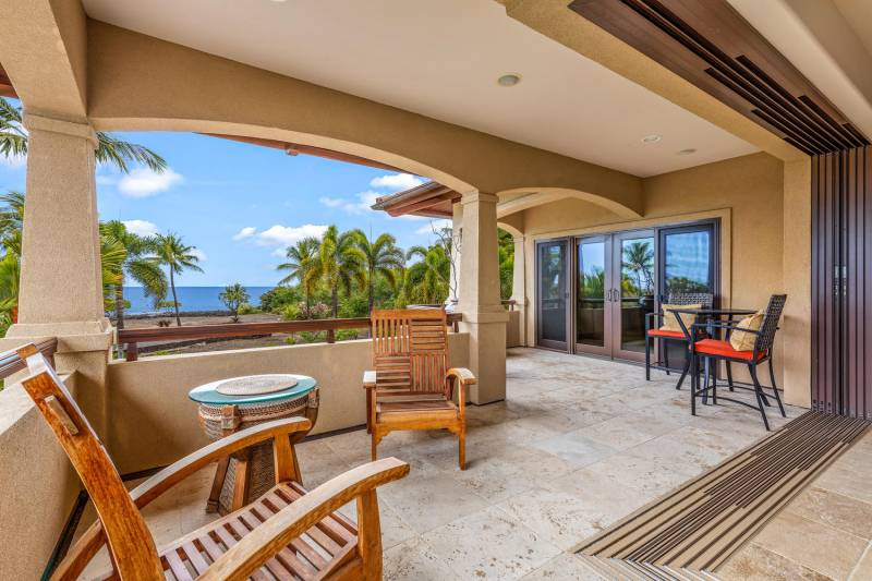 large private lanai with ocean views