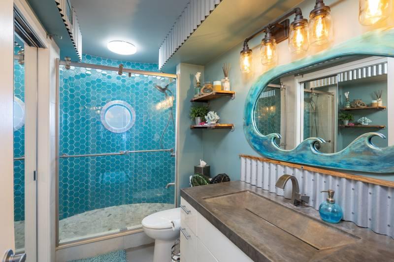 ocean inspired bathroom