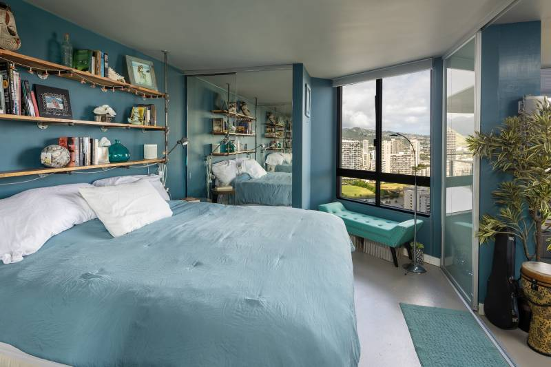 bedroom with beautiful honolulu views
