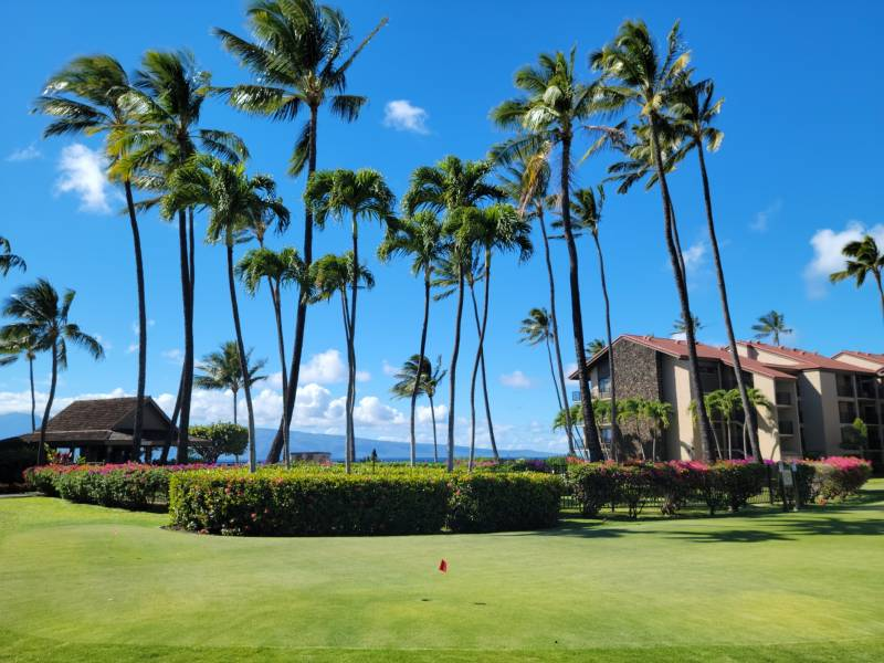 Putting green on the grounds of Papakea