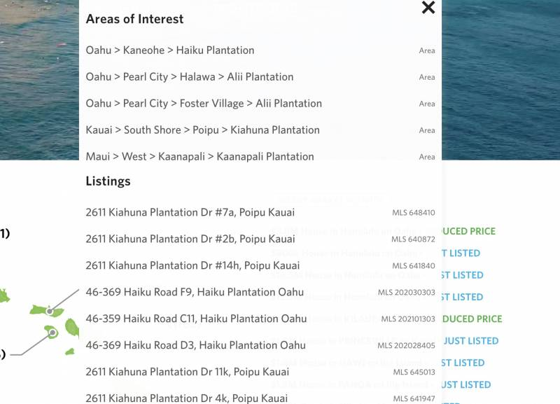 Search on the word Plantation in listings