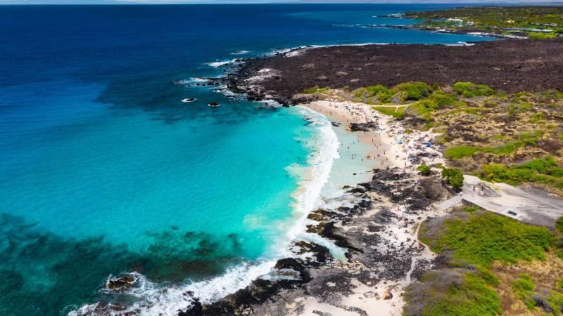 white sand beaches on the big island