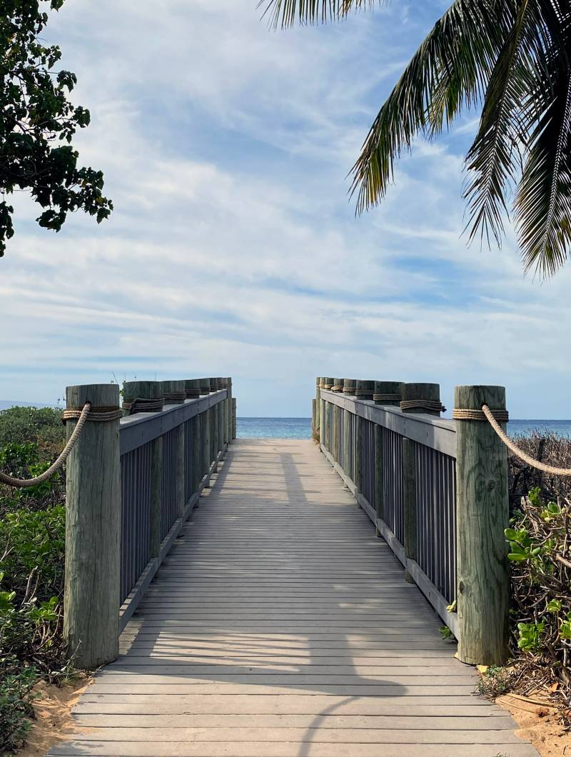 walk to the beach from your property in hawaii