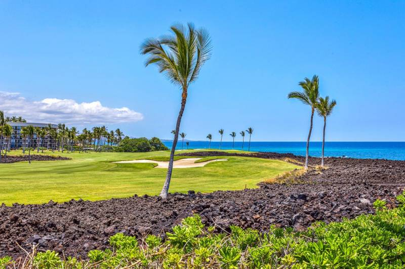 ocean view golf course on the big island