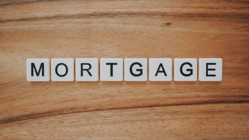 tiles spelling out mortgage