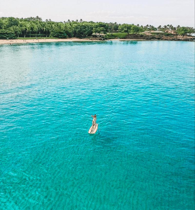 paddleboarding near mauna kea resort