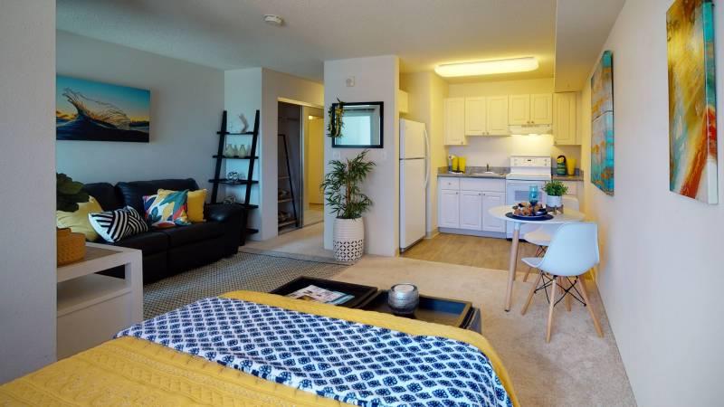 interior studio condo for sale in kakaako