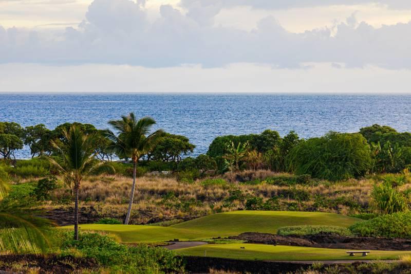 ocean view golf course at kohanaiki big island