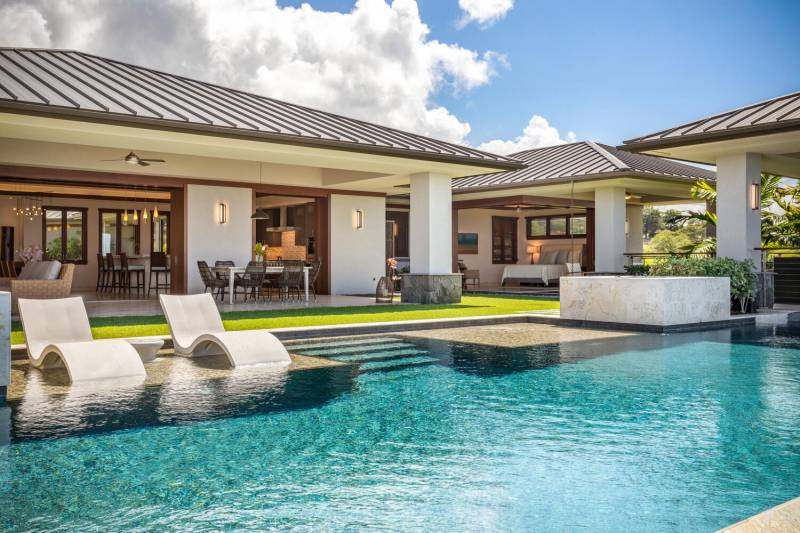 large outdoor space with pool