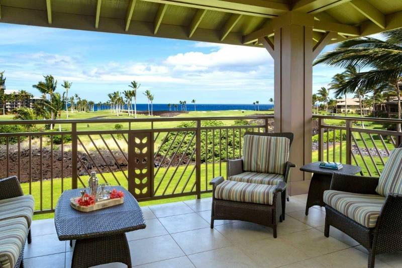 Golf course ocean view from Halii Kai 8D for sale