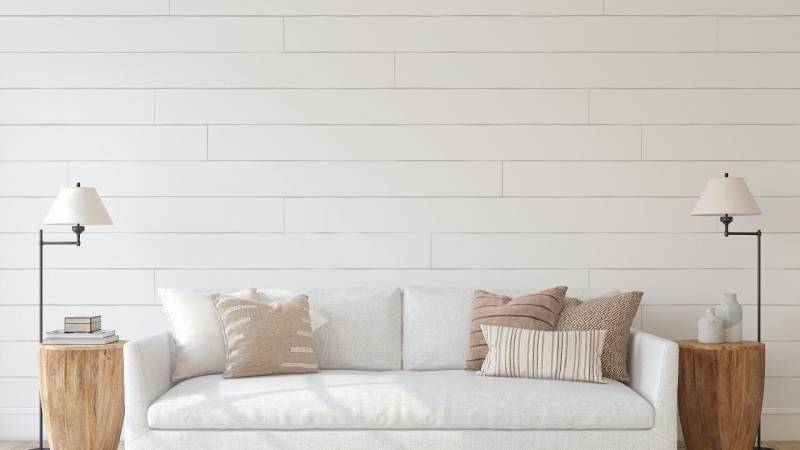 white couch minimalist room