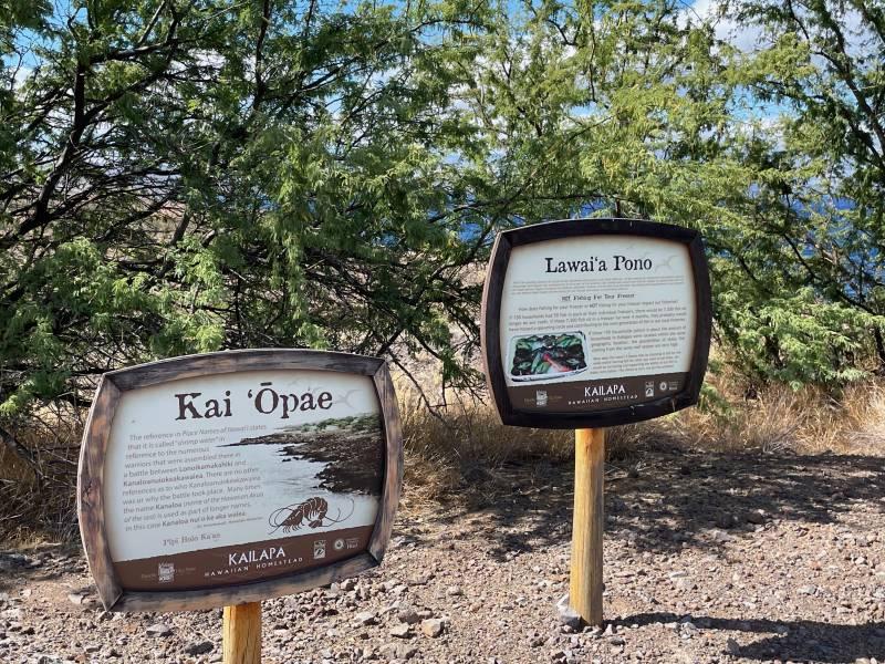Educational Signage on the Ala Kahakai National Historic Trail