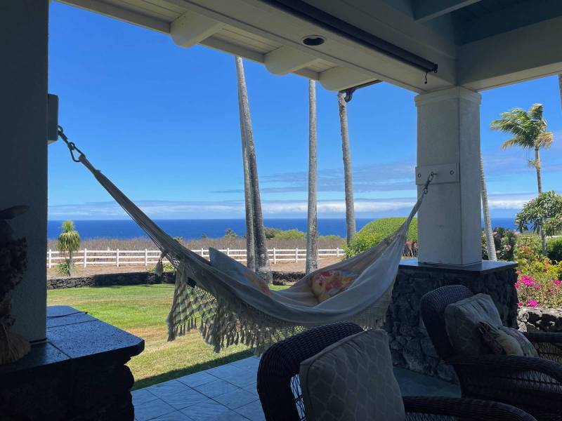 Puakea Bay Ranch ocean view home for sale view from lanai