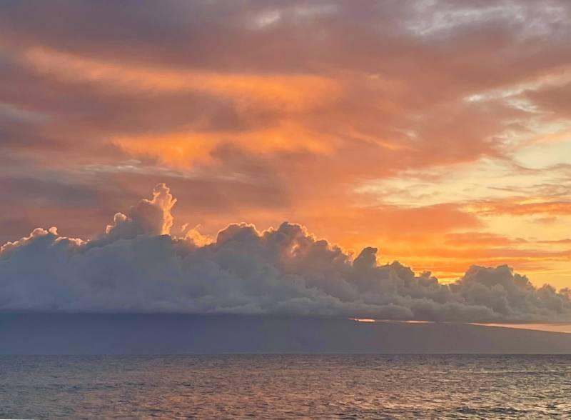 sunset on maui over the ocean