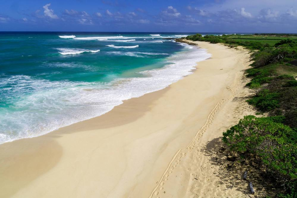 179 ft. of white sandy beachfront property for sale on Oahu's North Shore