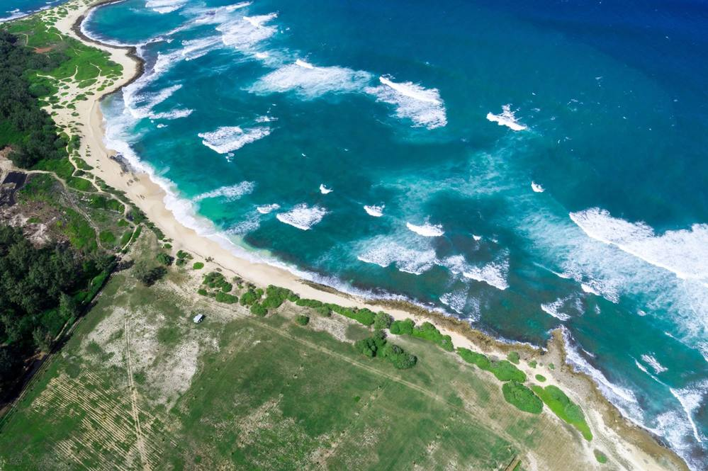 Aerial view of Oahu North Shore Property for Sale