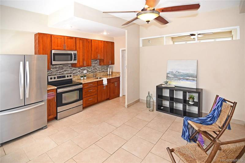terrazza condo kitchen and living area
