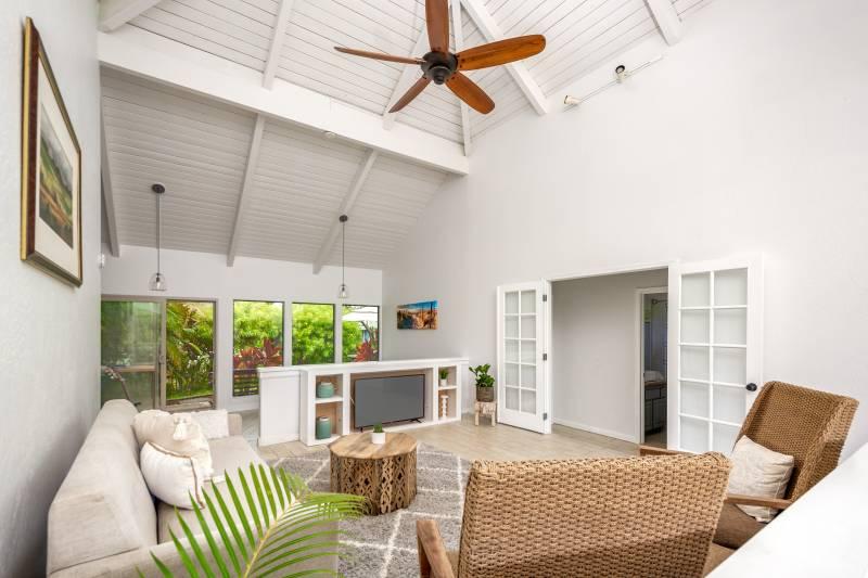 high ceilings in kauai home for sale