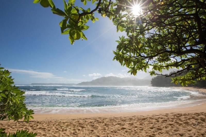 beautiful kauai sandy beach