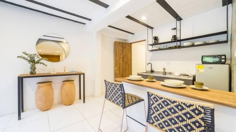 cute small condo kitchen