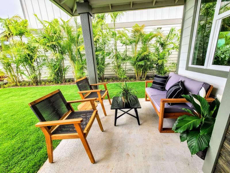 backyard at makamae homes