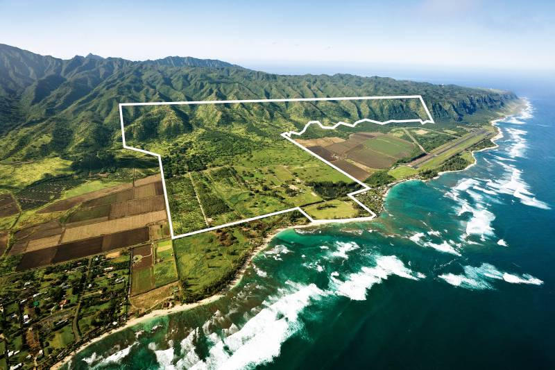 Aerial view of Dillingham Ranch Oahu