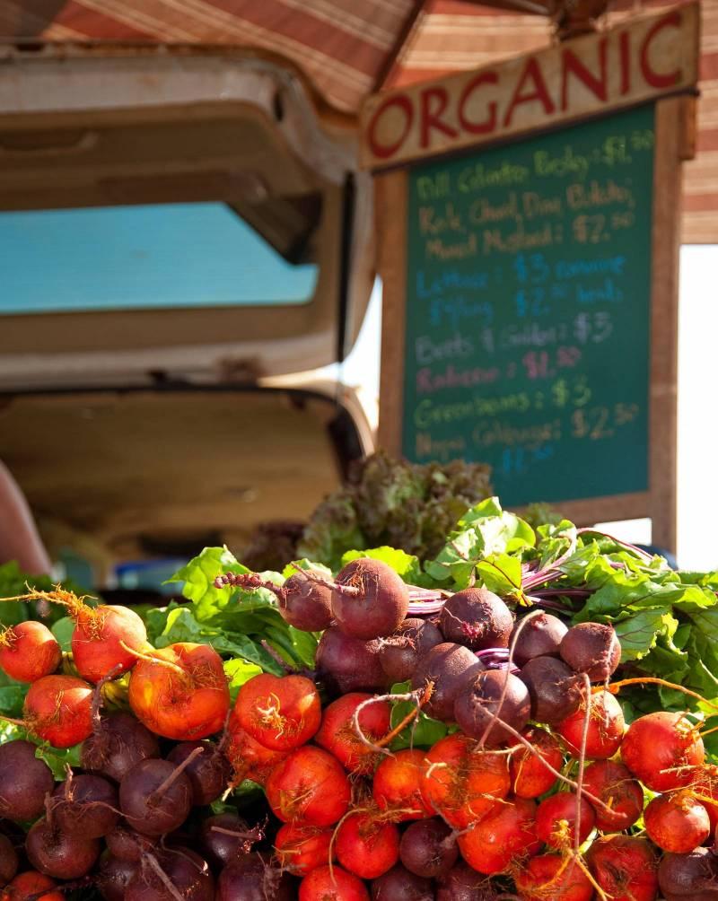organic vegetables at big island farmers market