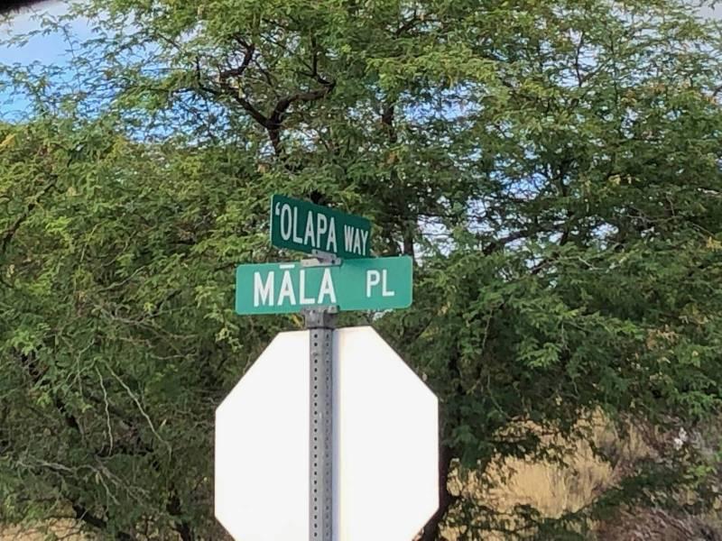Street signs in Kohala Ranch