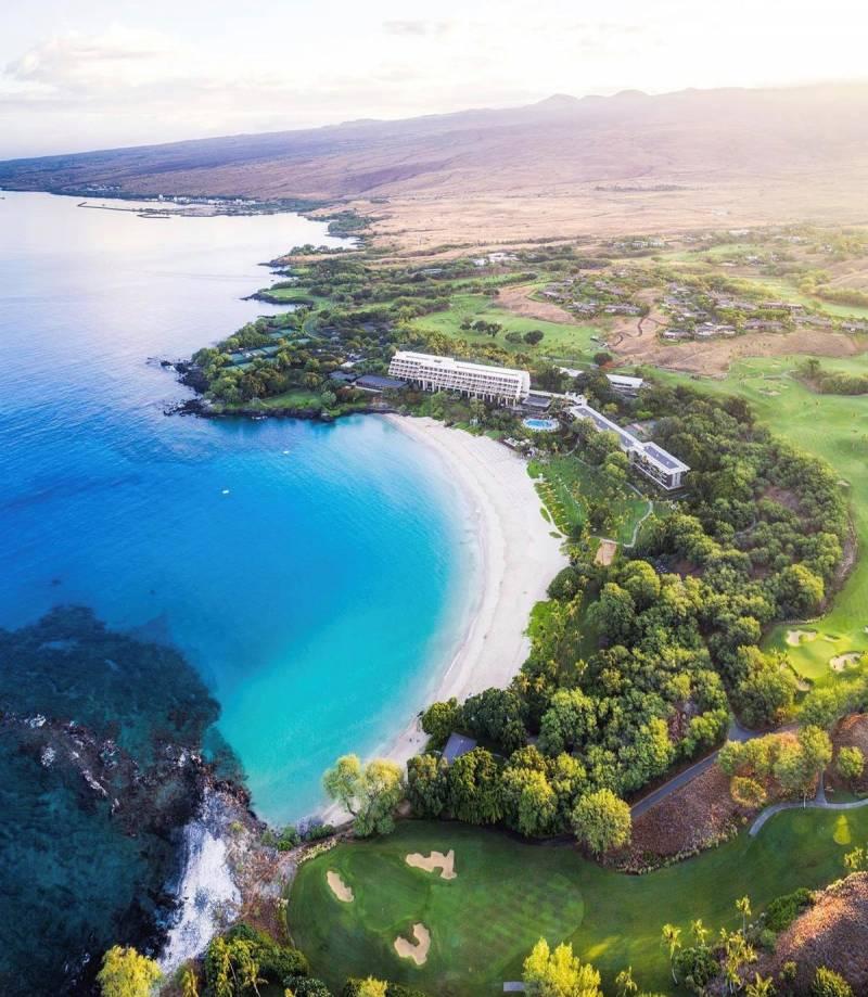mauna kea resort from above