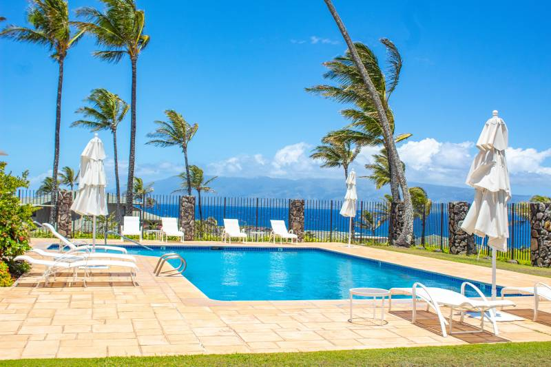 one of the pools in kapalua