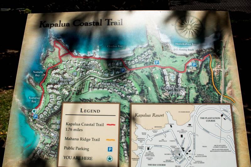 kapalua maui coast trail map