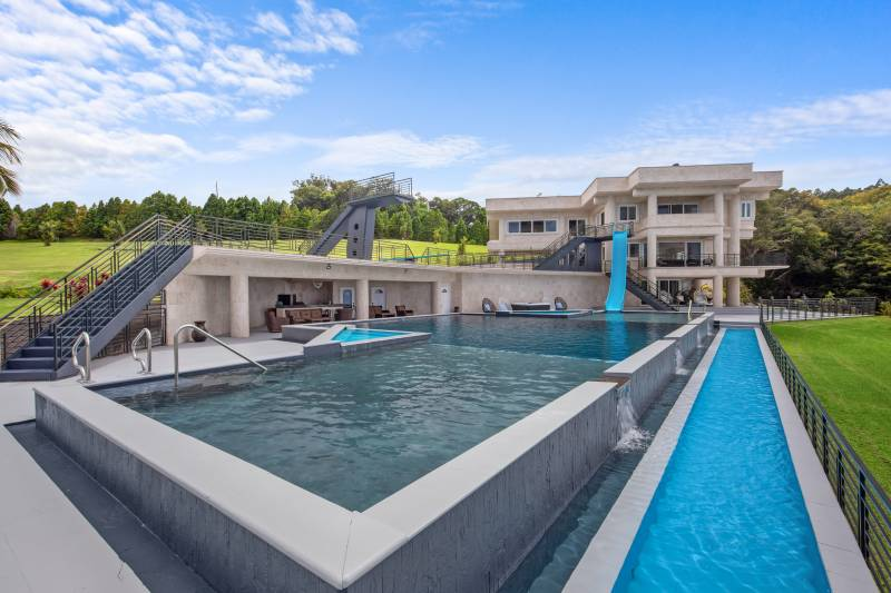 waterfalling estate home of television show love island
