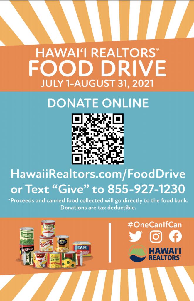 hawaii realtors food drive