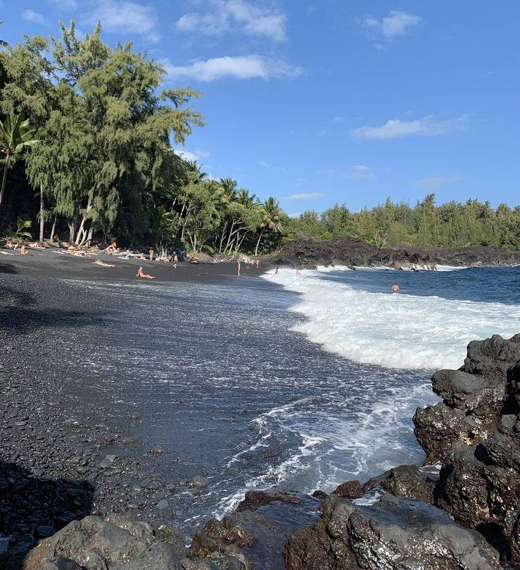 big island black sand beach