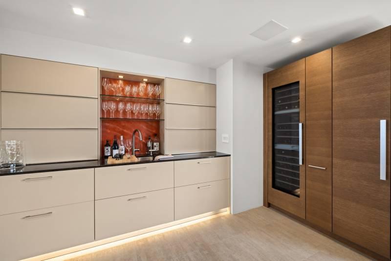 bar and wine fridge