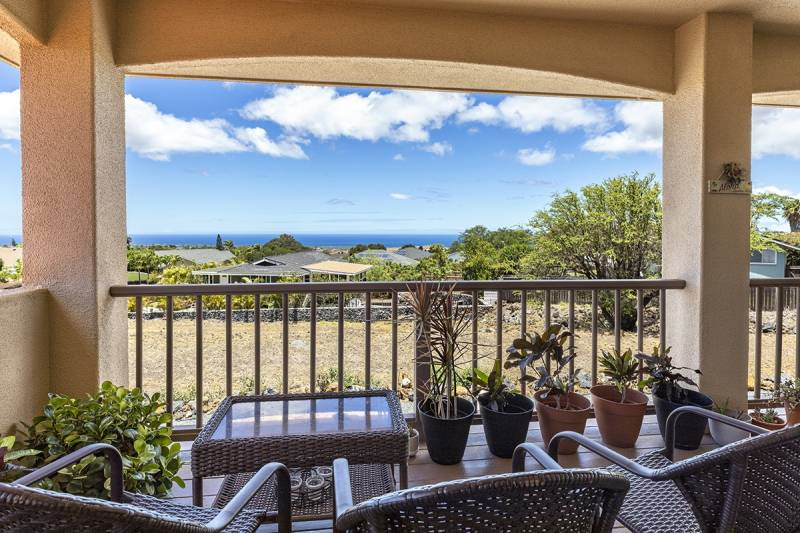 ocean views from the back lanai