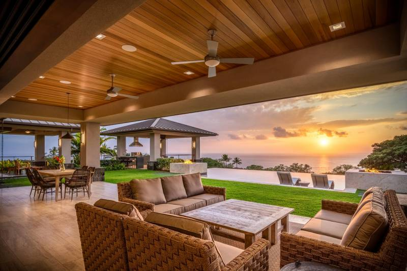 ocean view home in hokulia big island for sale