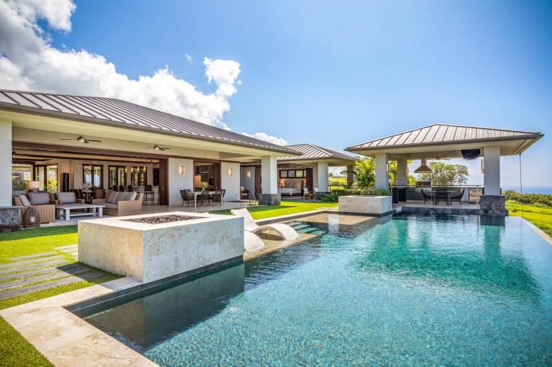 pool at hokulia on the big islands kona coast
