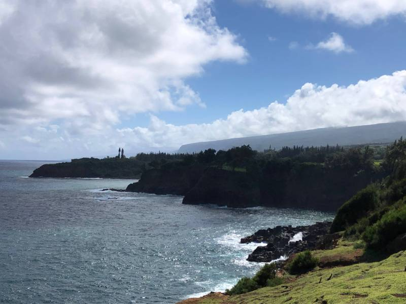 Kapanaia Bay and Pololu Valley in distance